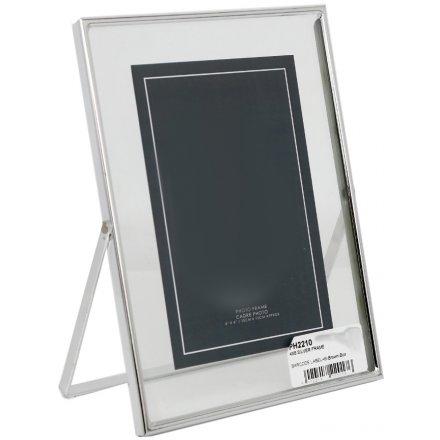 Silver Rim Glass Frame , 4x6
