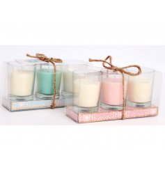 Bring a sweet smell into any bedroom space with this chic assortment of glass jars