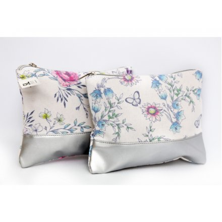 Secret Gardens Fabric Makeup Bags