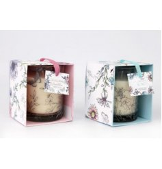 Bringing the beautiful scent of a secret garden inside the home. These pretty candle pots make a lovely gift item