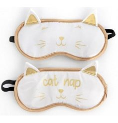 An assortment of cute cat themed sleeping masks, Purrrfect for any sleeping beauty!