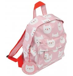 this charming pink toned backpack will be just what your little ones need when going to school or out to play!