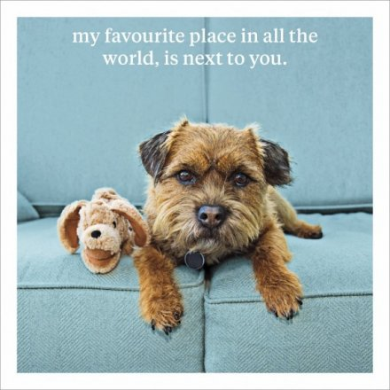 Favourite Place Next To You Greeting Card