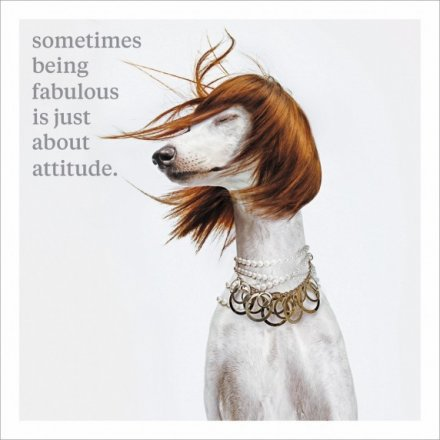 Just About Attitude Greeting Card