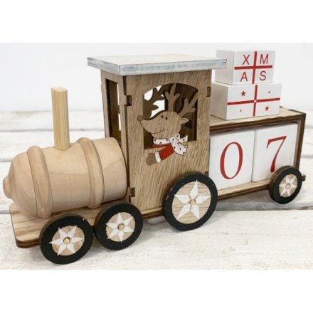 Natural Wooden Advent Train 44067 Christmas Calendars Advent