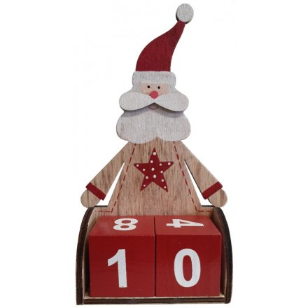 Santa Shaped Count Down Advent
