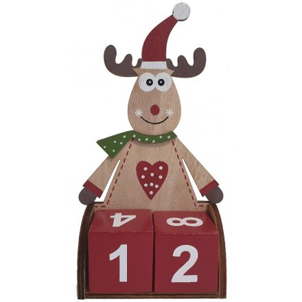 Reindeer Shaped Count Down Advent