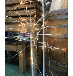 , this tall standing white twig tree will be sure to place perfectly in any home or display during Christmas