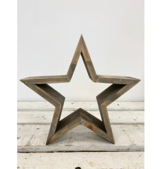 Make a statement with this on trend 3D chunky star decoration.