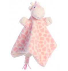 An adorable cuddly Giraffe finger puppet complete with a snuggly blanket for comfort, perfect for newborn babies
