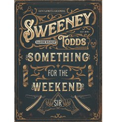 A charming metal sign featuring a script text quote and added illustrations