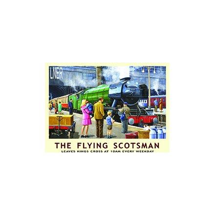 Vintage Flying Scotsman Metal Sign