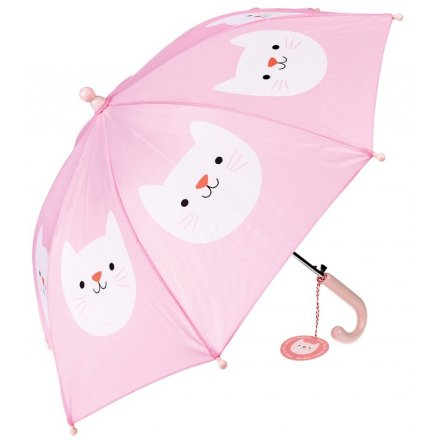 this pretty pink umbrella with a Cookie the Car decal is a must have!