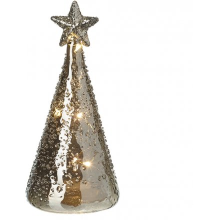 LED Glass Tree 14cm