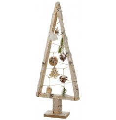 this beautiful rustic tree will be sure to tie in with any themed home at Christmas