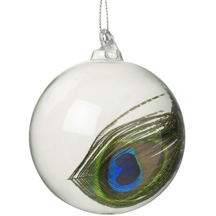 reputable site 72362 0ff72 DDG200A / Peacock Feather Bauble   44300   Christmas ...