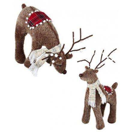 Winter Reindeer Standing Decorations
