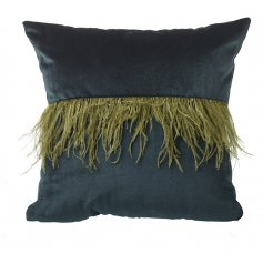 Bring a Luxe touch to your home spaces with this gorgeous dark green toned velvet cushion