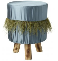 Bring a Luxe touch to your home spaces with this gorgeous turquoise blue toned footstool