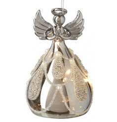 Bring a beautiful Luxe tone to your home display at Christmas with this gorgeous warm glowing LED Glass Angel Decoration