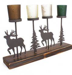 this 4 space tlight holder will be sure to tie in with any Rustic Woodland themed homes