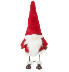 A charming standing Santa which dances and wobbles when touched. A plush, fine quality item.