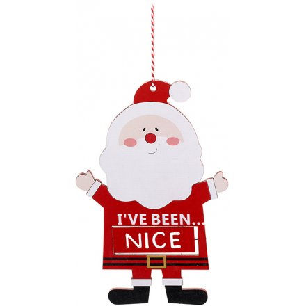 Hanging Naughty Nice Santa