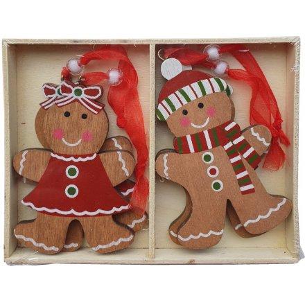 Set of Gingerbread Character Hangers