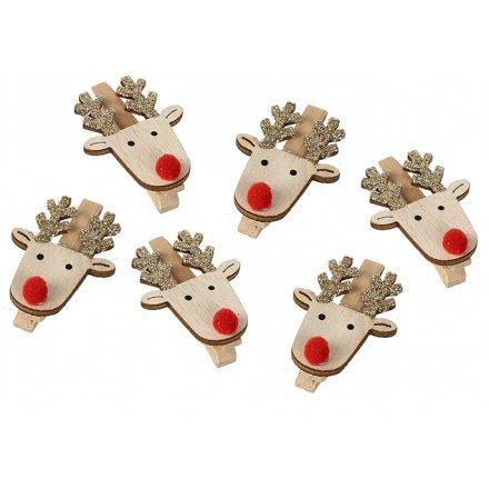 Red Nosed Reindeer Clips Set