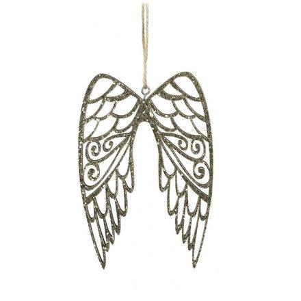 Gold Glitter Angel Wings