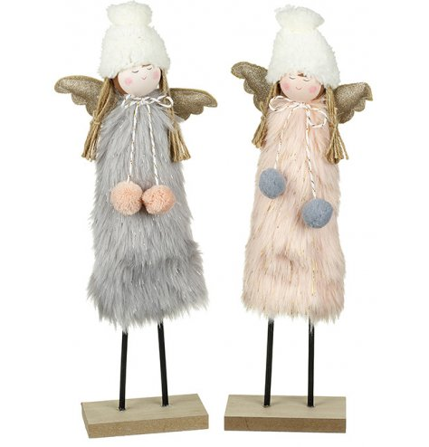 Charming angel decorations in blush pink and soft grey colour assortments.