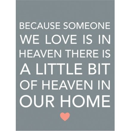 Little Bit Of Heaven In Our Home Metal Sign 20cm