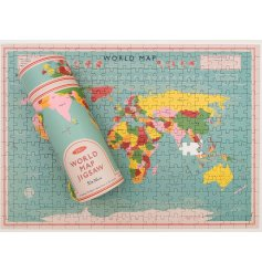 A 300piece puzzle that creates a fun and colourful picture of the world map