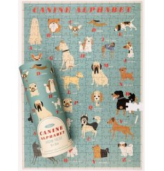 A 300piece puzzle that creates a fun and colourful picture of carton dogs labelled A-Z