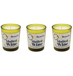 Add a rich festive smell of a freshly poured Mulled Wine flow through your home with this mini set of quality finished