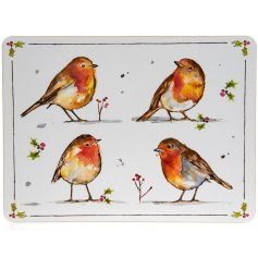 Winter Robins Set of 4 Placemats