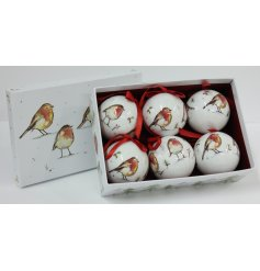 this set of beautifully finished baubles will be sure to add a festive winter touch to any tree at Christmas time