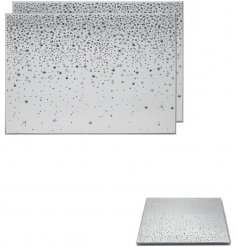 Decorated with sparkly falling stars, this beautiful set of mirrored placemats will be sure to place perfectly in any h