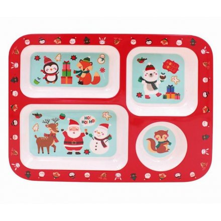 Festive Friends Christmas Compartment Tray 33cm