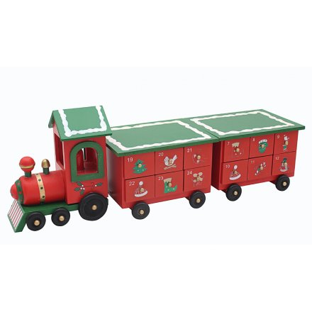 Red and Green Advent Train