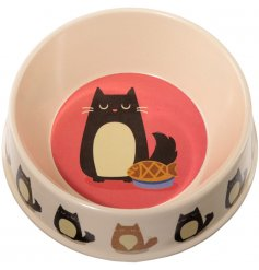 Help save the world one Kitty Bowl at a time with this quirky cat printed Biodegradable Bamboo Feeding Dish