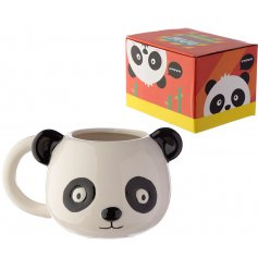 A cute and bold Panda design mug with matching gift box.