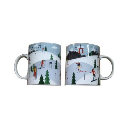 Covered with a festive Peak Season decal, this colourful mug will be sure to improve any morning coffee at Christmas!