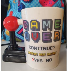 this quirky novelty mug is a perfect gift idea for any avid gamer!