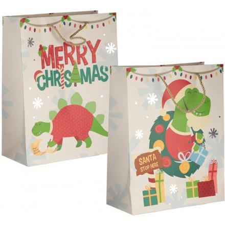 Large Festive Dinosaur Gift Bags