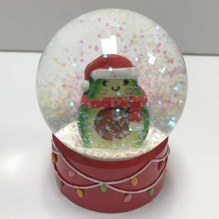 Festive Avocado Water Ball Christmas Decorations Snow Globes Noël Co
