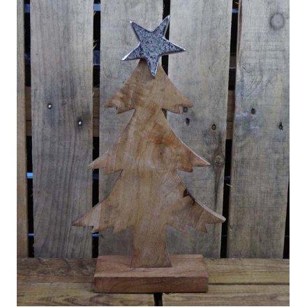 Rustic Tree Ornament