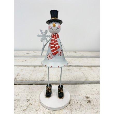 Metal Standing Snowman