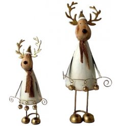 Bring a Rustic Charm inspired touch to any home space at Christmas with this standing metal reindeer figure
