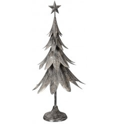 this standing Christmas Tree ornament will be sure to place perfectly in any Rough Luxe inspired decals